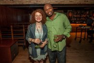 """At a #GrammyCHI event with Alex White of """"White Mystery""""."""